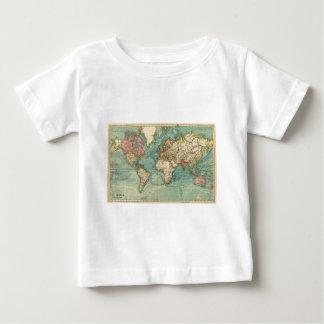 Vintage Weltkarte Baby T-shirt