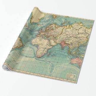 Vintage Weltkarte Geschenkpapier