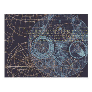 Vintage Wissenschafts-Buch-Illustration Postkarten