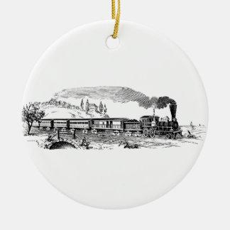 Vintage Zugskizze Keramik Ornament