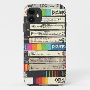 Vintager 80er des Spaßes Retro VHS-Band-Stapel iPhone 11 Hülle