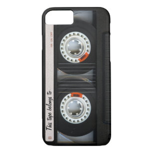 Vintager 80er Retro Musik-Kassetten-Band iPhone 8/7 Hülle
