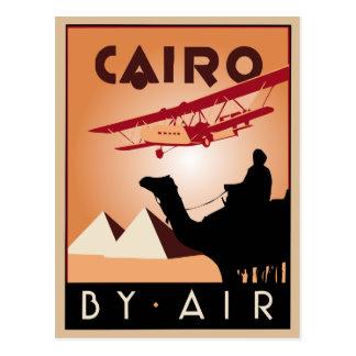 Vintager Ägypten-Reisekunst-Deko Postkarte