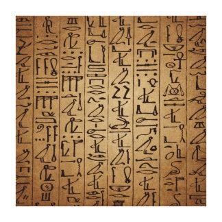 Vintager ägyptischer Hieroglyphen-Papier-Druck Leinwand Druck