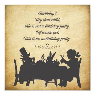 Vintager Alice im Wunderland-Tee-Party-Geburtstag Individuelle Einladung
