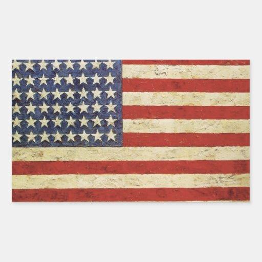 Vintager amerikanische Flaggen-Aufkleber