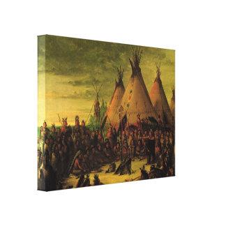 Vintager amerikanischer Ureinwohner, Leinwanddruck