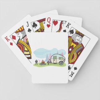 Vintager Art-Camper-Spielkarten Spielkarten
