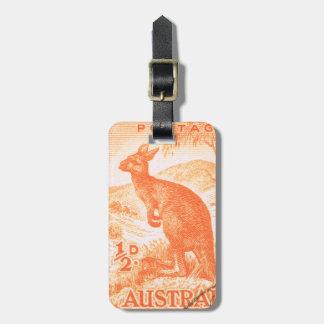 Vintager Australien-Känguru Kofferanhänger