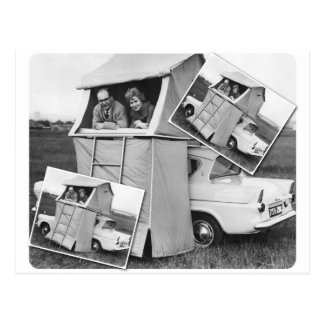Vintager Auto-Campings-Wohnwagen Postkarte