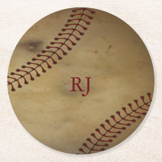 Vintager Baseball Runder Pappuntersetzer
