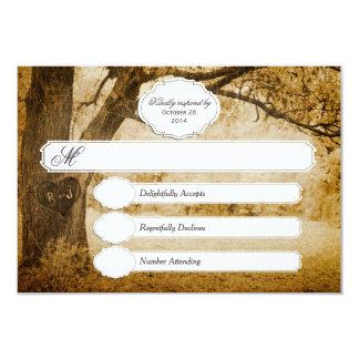 Vintager Baum, der Hochzeit UAWG 1,0 schnitzt 8,9 X 12,7 Cm Einladungskarte