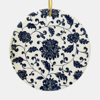 Vintager Blumenentwurf Keramik Ornament
