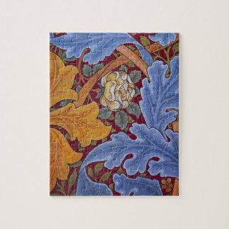 Vintager Blumenentwurf Williams Morris St James Puzzle