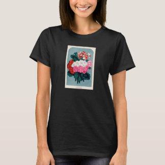 Vintager botanischer Druck - Pelargonien T-Shirt