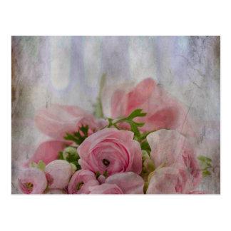 Vintager BrautRosen-Blumenstrauß Postkarte