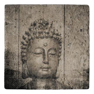 Vintager Buddha-Yoga-Glaube Töpfeuntersetzer