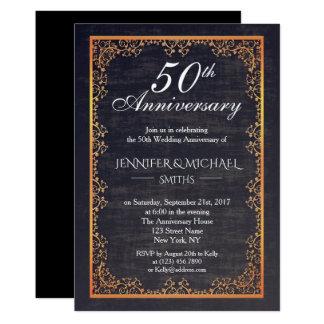 Vintager Burgunder-Hochzeits-Jahrestag laden ein Karte