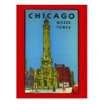 Vintager Chicago-Wasser-Turm Postkarte