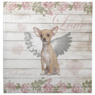 Vintager Chihuahua - Valentinstag Serviette
