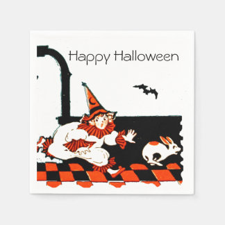 Vintager Clown scherzt Halloween-Party Serviette