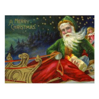 Vintager Deutscher Weihnachtsmann Postkarte