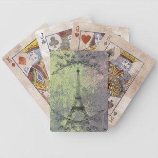 Vintager Eiffel-Turm Bicycle Spielkarten
