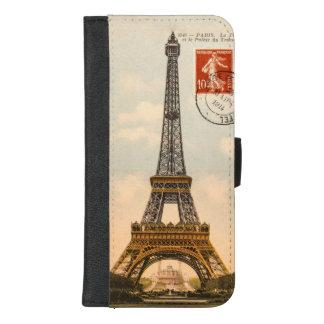 Vintager Eiffel-Turm iPhone 8/7 Plus Geldbeutel-Hülle