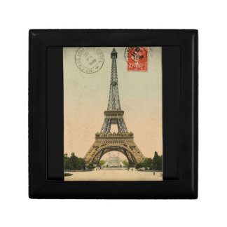 Vintager Eiffel-Turm Kleine Quadratische Schatulle
