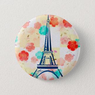 Vintager Eiffel Turm-Paris Runder Button 5,7 Cm