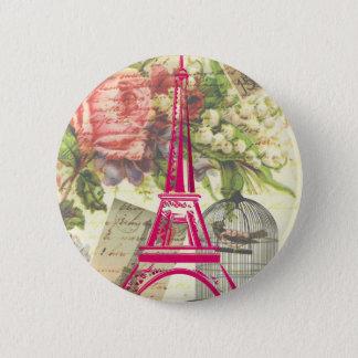 Vintager Eiffel-Turm Runder Button 5,1 Cm