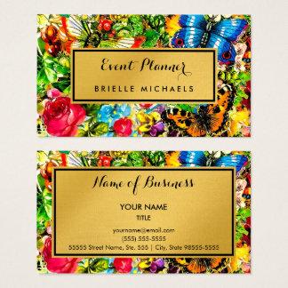 Vintager eleganter Imitat-Goldereignis-mit Visitenkarten