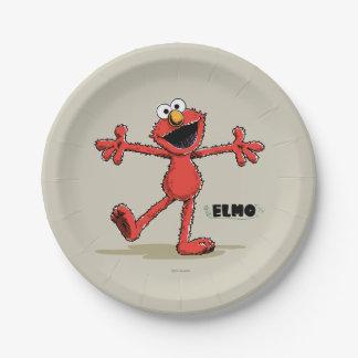 Vintager Elmo Pappteller 17,8 Cm