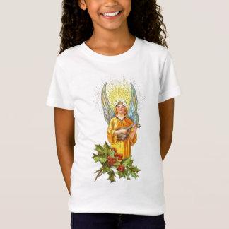 Vintager Engel mit Stechpalme und Mandoline T-Shirt
