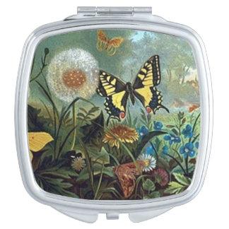 Vintager Entwurf des kompakten Spiegels Taschenspiegel