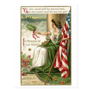 Vintager Erinnerungstag Postkarten