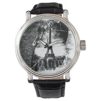 Vintager Franzose-Eiffel-Turm Paris Uhr