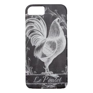 Vintager französischer Hahn der Shabby Chictafel iPhone 8/7 Hülle