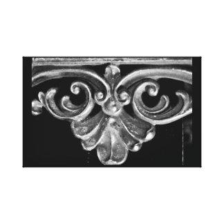 Vintager französischer Rahmen Leinwanddruck