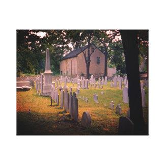 Vintager Friedhofs-gespenstische Gespannte Galeriedrucke