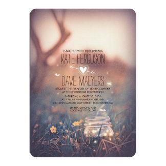 Vintager Garten-rustikale Maurer-Glas-elegante 12,7 X 17,8 Cm Einladungskarte