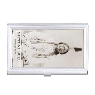 Vintager gebürtiger Amerikaner-Medizin-Mann Visitenkarten Dose