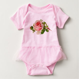 Vintager Gefühl-Baby-Mädchen-RosaTutu Baby Strampler