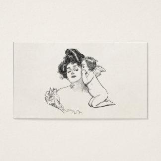 Vintager Gibson-Mädchen Edwardian Visitenkarte