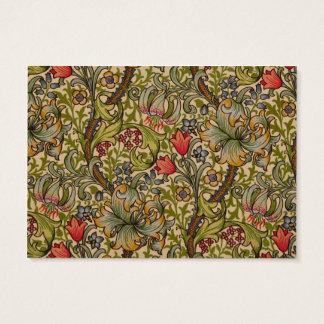 Vintager goldener Lilly Blumenentwurf William Jumbo-Visitenkarten