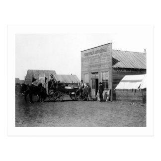 Vintager Grenzstadtpferdelastwagen Postkarte