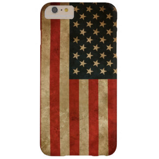 Vintager Grunge-amerikanische Flagge - USA Barely There iPhone 6 Plus Hülle