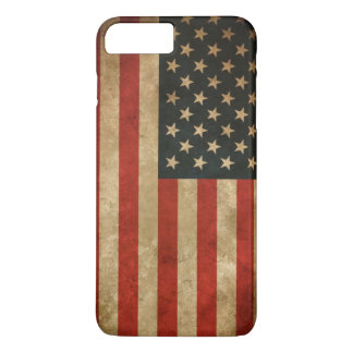 Vintager Grunge-amerikanische Flagge - USA iPhone 8 Plus/7 Plus Hülle