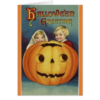 Vintager Halloween-Gruß Karte