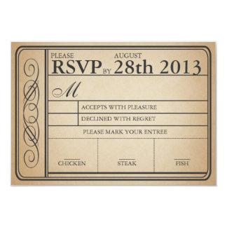 Vintager Hochzeits-Karte UAWG II Punchout 8,9 X 12,7 Cm Einladungskarte